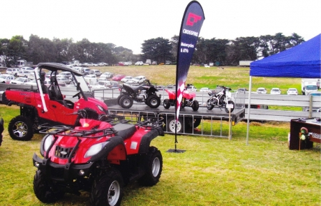 Crossfire VIC Dealer, Laang Park Motorcycles @ Sungold Field Days
