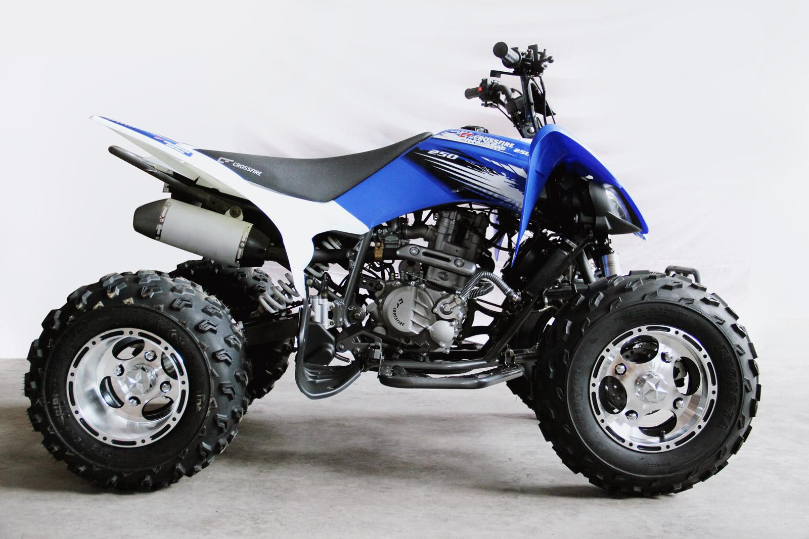 crossfire motorcycles mustang evo 3 250cc atv