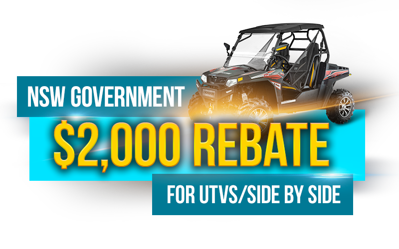 NSW Government UTV Side By Side Rebate