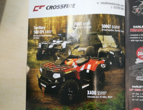 Crossfire Ad in Just Bikes Magazine – on sale THIS THURSDAY 12 October