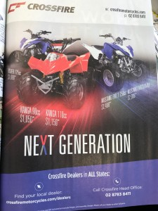 Crossfire November ad in Just Bikes