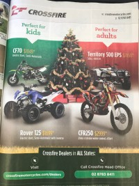 Crossfire Just BIkes December ad