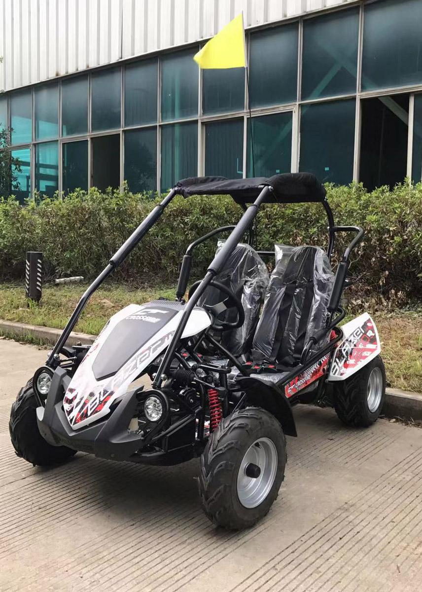 crossfire-go-kart-blazer-200r-white-front-side