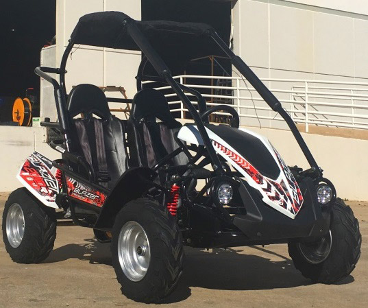 crossfire-go-kart-blazer-200r-white-front